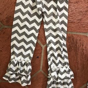 Chevron Ruffle Pants